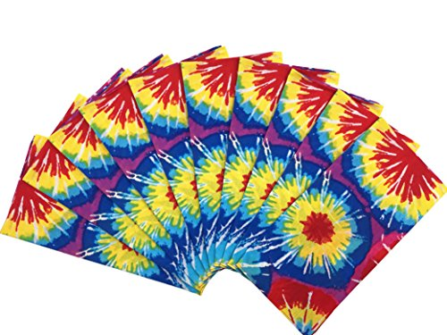 T&Z 100% Cotton 10 Pack Fine Bandanas (Tie -