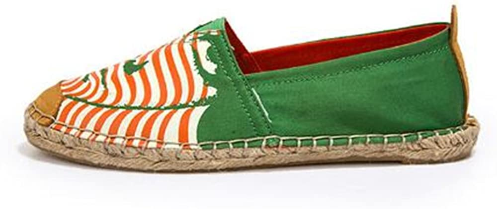 Classic Womens Orchard Canvas Cotton Fashion Sneaker Espadrilles Loafer Green