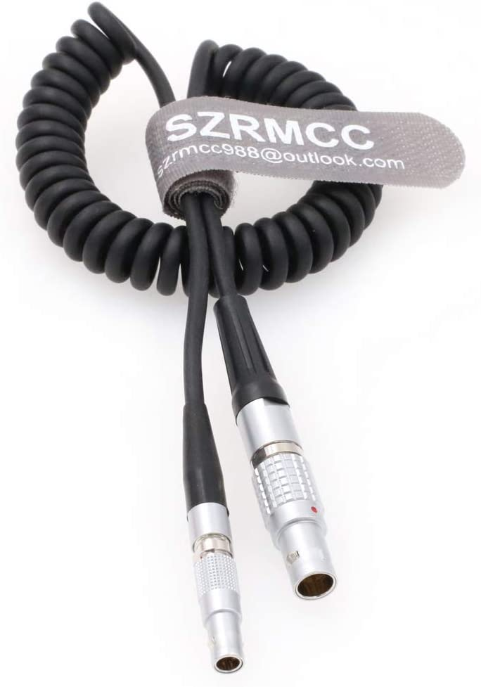 Thin Flexible Cable SZRMCC Ambient Lockit Sound Devices 0B 5 Pin to 00B 4 Pin TimeCode Input Cable for Red Epic Camera
