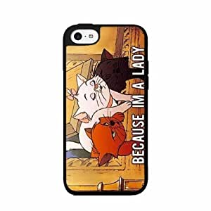 Because I'm A Lady High Impact 2-Piece Dual Layer Rubber Silicone Phone Case Back Cover iPhone 5 5s