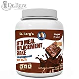 Dr. Berg's Meal Replacement Shake with MCTs & BCAAs, Plant Based Protein, Zero Added Sugars - Delicious Creamy Chocolate Brownie Flavor, 11 Grams of Protein, 4 Grams of MCT, 1.55 Pounds