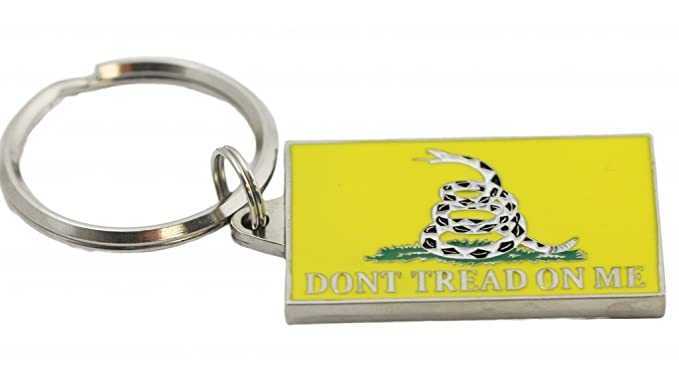 Amazon.com  Don t Tread On Me Key Ring Military Keychains for Men ... 63158ff934