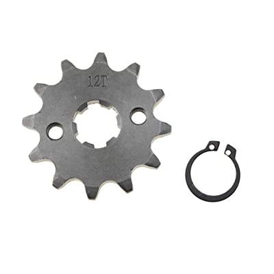 WOOSTAR Front Sprocket 420-12T 17mm for Motorcycle: Automotive