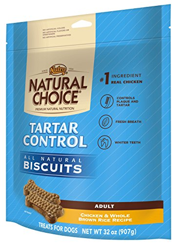 NATURAL CHOICE Tartar Control Adult Biscuits Chicken and Whole Brown Rice Recipe – 32 oz. (907 g)