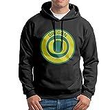 FUOALF Mens Pullover University Of Oregon Hoodie Sweatshirts Black S