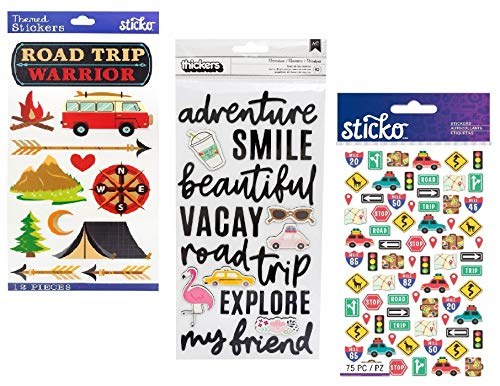 149 Roadtrip Stickers | Sticker Kit with Vacation, Road Trip, Camping, Travel, Camper, RV Theme