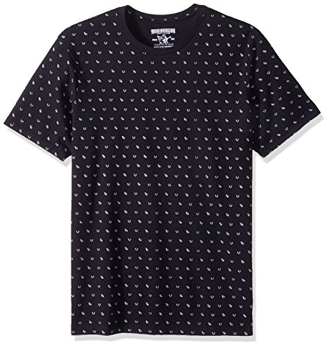True Religion Mens All Over Monogram Tee