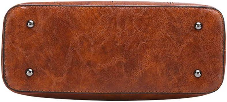 YJF New Vintage Leather Tote Purse Shoulder Bag for Ladys Gift