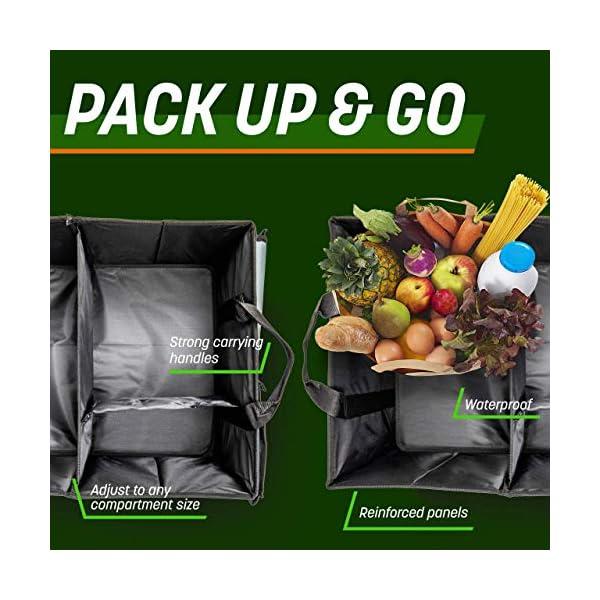 51meanUM1iL Drive Auto Products Kofferraum Organizer - Praktische Kofferraumtasche mit Fächern - Einkaufskorb, Aufbewahrungsbox für…