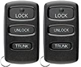 KeylessOption Keyless Entry Remote Control Car Key Fob Alarm Replacement for Mitsubishi Diamante E4EG8D-522M-A (Pack of 2)