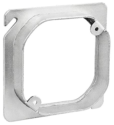 4 Inch Square to Octagon Device Ring 5/8 Inch Raised