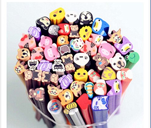 Yosoo Nail Art 3D Mixed Styles Fimo Polymer Clay Cane Rod Nail Decorations Stick Sticker DIY Nail Art Decal (Animal)