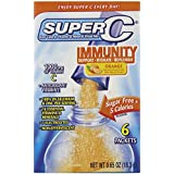 Super C Immunity Vitamin and Mineral Singles To Go Water Drink Mix - Orange Powder Sticks (12 Boxes with 6 Packets Each - 72 Total Servings)