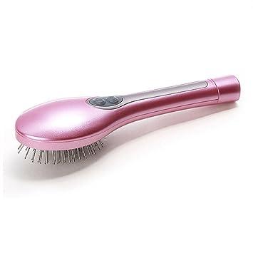 Cepillo Alisador Electrico de masaje Eléctrico peine del cabello peine de la piel masaje de la luz del color de iones negativos, Rosa: Amazon.es: Belleza