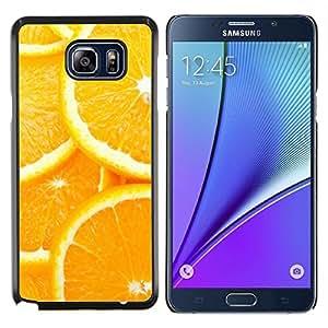 LECELL--Funda protectora / Cubierta / Piel For Samsung Galaxy Note 5 5th N9200 -- Modelo anaranjado de la rebanada --