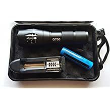 G700 ADJUSTABLE ZOOM LED FLASHLIGHT+ BATTERY+CASE+ CHARGER- ARMY GRADE CREE CHIP-DIRECT IGNITER BRAND