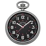 Gotham Men's Gun-Tone Mechanical Hand Wind Railroad Pocket Watch # GWC14100BBK