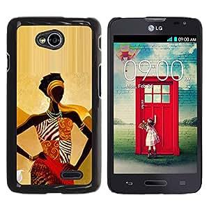 Be Good Phone Accessory // Dura Cáscara cubierta Protectora Caso Carcasa Funda de Protección para LG Optimus L70 / LS620 / D325 / MS323 // black queen gold goddess woman lady