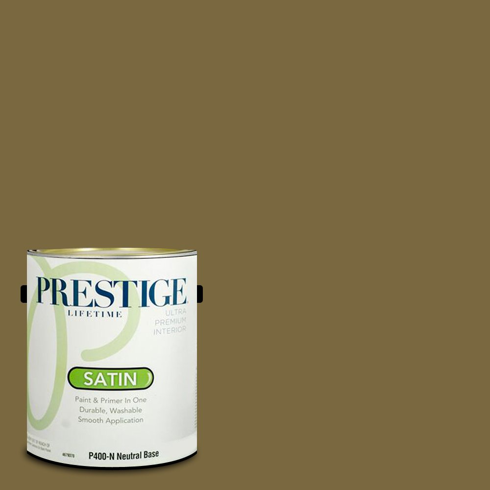Prestige Paints Interior Paint and Primer In One, 1-Gallon, Satin,  Comparable Match of Sherwin Williams Eminent Bronze