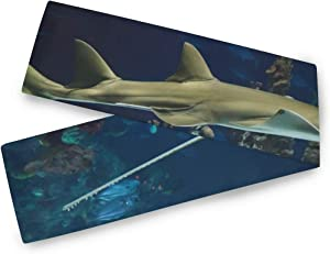 FAJRO Aquarium Small Shark Table Runner for Family Dinners Gatherings, Indoor or Outdoor 13x70inch/13x90inch