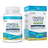 Nordic Naturals Omega Focus Junior - Children's Omega 3 Formula for Brain Health, Learning and Attention Soft Gels - 120 Count