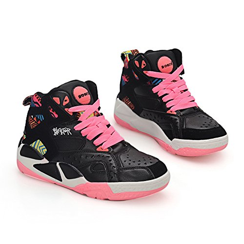 Pink Platform MMS03722 1TO9 Assorted nbsp;Color 3 UK Fashion Sneakers Leather Womens Bandage qaCx4wX6