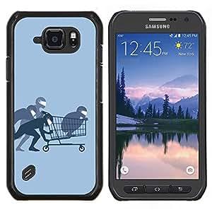 Caucho caso de Shell duro de la cubierta de accesorios de protección BY RAYDREAMMM - Samsung Galaxy S6Active Active G890A - Funny Ninja Compras