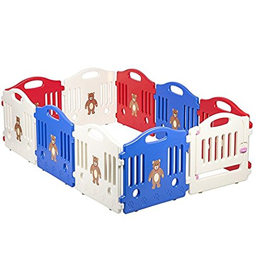 10 Panel Safety Play Center Yard Baby Playpen Kids Home Indoor Outdoor Pen by PayLessHere