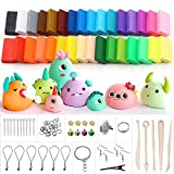 (US) Polymer Clay, Ubegood 32 Colors Oven Bake Model Clay DIY Air Dry Clay Soft Molding Craft Clay Set with Modeling Tools and Accessories Best Gift for Kids