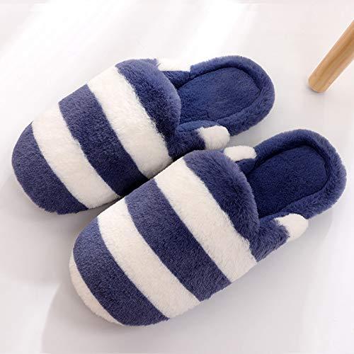 45 Da Femminile Coperta Blue 44 Inverno Paio Cotone A Hong Scarpe Autunno 42 Jia Righe E Cotone Pantofole Con Borsa 43 Di Nuove Antiscivolo blue1 Uomo BwOCq