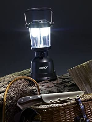 Dorcy 41-3108 Floating Waterproof Area Lantern with LED Technology, 400-Lumens, Green Finish