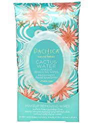 Pacifica Beauty Cactus Water Makeup Removing Wipes, 30 Count