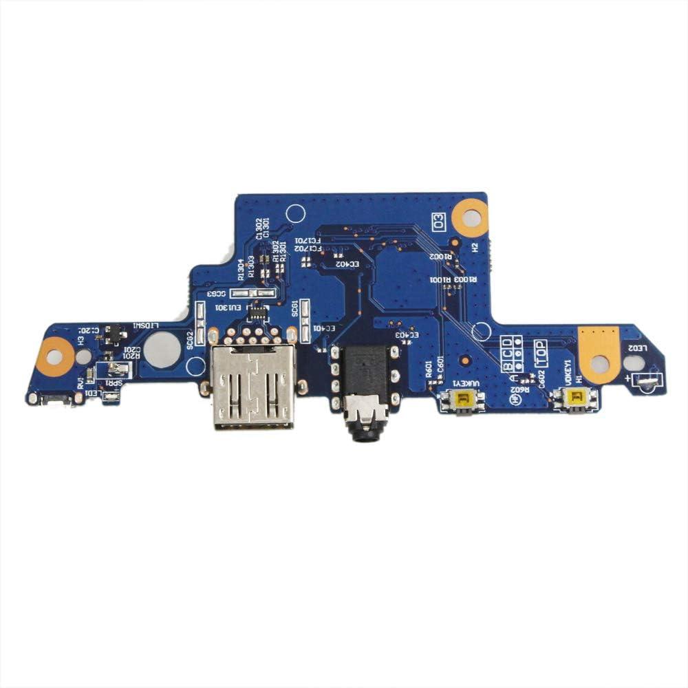 GinTai USB PCBA Audio Power Switch Board Replacement for HP 15-aq173cl 15-aq193ms 15-aq210nr 15-aq210nr 15-aq193ms 15-aq018ca 15-aq166nr 15-aq156nr 15-aq165nr 15-aq166nr 856808-001