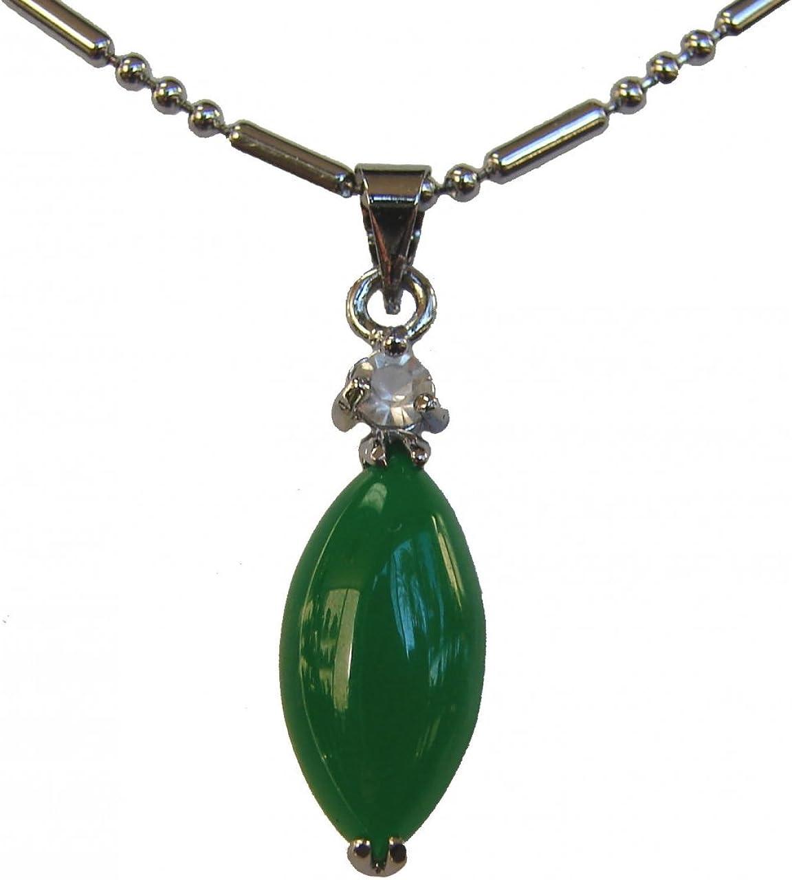 Verde chino hoja forma Jade colgante