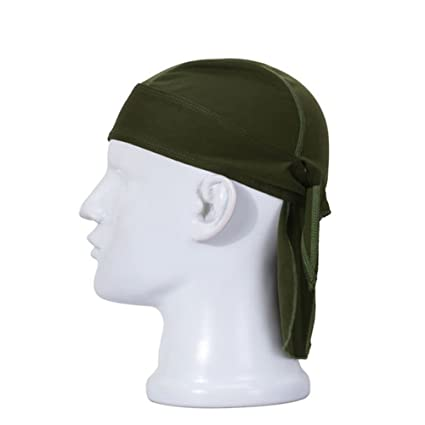 390d57834f6 Amazon.com   Wicking Beanie Adjustable Cycling Bandana - Skull Cap Beanie  for Outdoor Running - Double Dry Dew Doo Rag Head Wrap Headband Sweatband    Sports ...