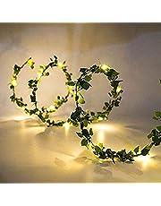 Gaosheng 2 m 20 LED łańcuch świetlny bluszcz rośliny Halloween choinki ogród podwórko dom patio ślub przyjęcie sypialnia dekoracja (1 szt. łańcuch świetlny LED) (1 szt. łańcuch świetlny LED) (1 szt. łańcuch świetlny bluszcz)