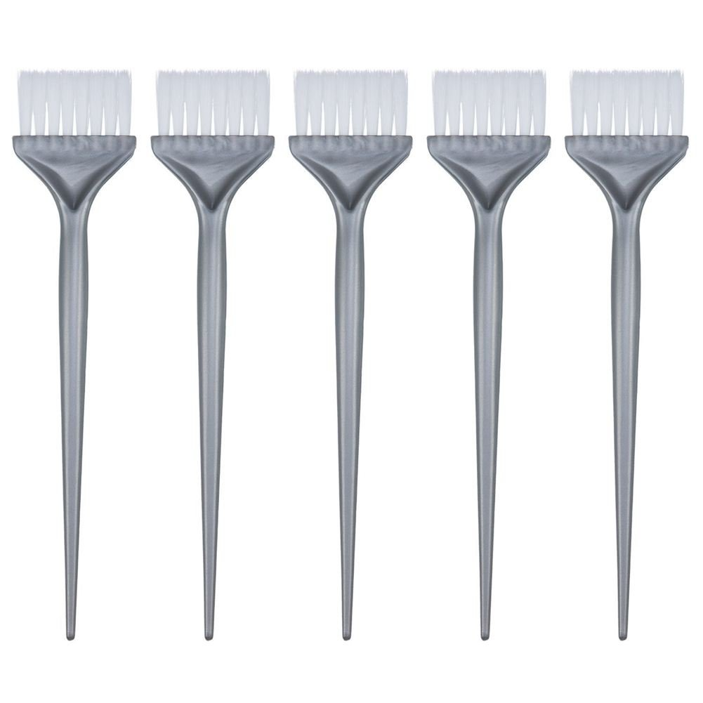 SODIAL(R) 5 Pack Hair Dye Coloring Brushes Hair Coloring Dyeing Kit Handle Salon Hair Bleach Tinting DIY Tool, Silver Grey