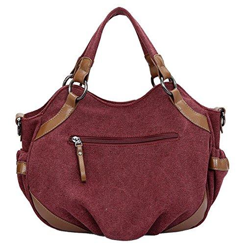 Pairs D - Bolso mochila  para mujer rojo Red Red