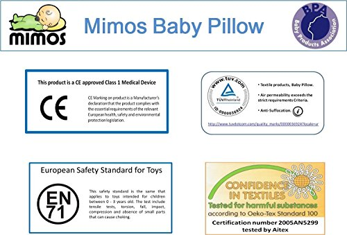 MIMOS Baby Pillow (L) - Air flow Safety (TUV certification) - Size L (0 - 3 months)