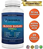 Cheap Blood Sugar Formula – Superb Blend of 20 Herbs and Nutrients to Help Support Healthy Blood Sugar Levels Already Within the Normal Range, 60 Capsules, 2 Month Supply, 100% Satisfaction Guarantee