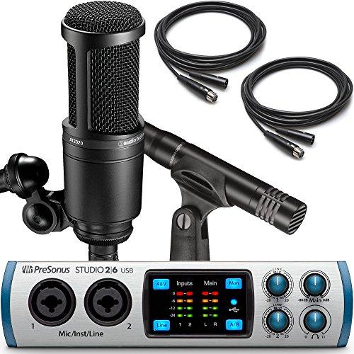 Presonus Studio 26 USB Audio Interface with Audio-Technica AT2041SP Studio Microphone Pack