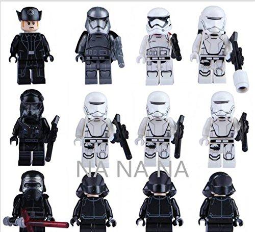 12Pcs Star Wars 7 Minifigures The Force Awakens Kylo Ren Captain Phasma Building Blocks Set Figures Bricks Toys Lego Compatible