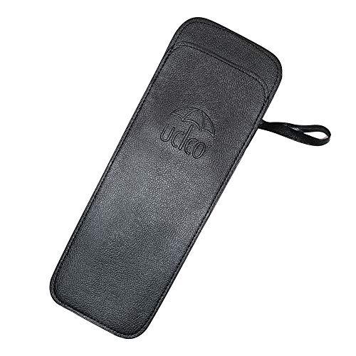 접이식산 커버 Ucico 산케이스 산만들어 넣음(담는 그릇·상자 등) 접이식산용 가볍 콤팩트 휴대 편리 레더 타입 초발수 블랙