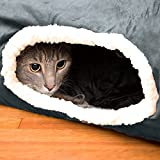 Easyology Cat Tunnel - Interactive Play Toy with Crinkle Sound - Fun For Hiding or Zooming In and Out - 100% Pet Friendly - Foldable - Collapsible - Easy to Clean Gray