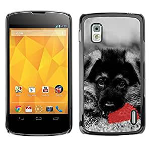Hot Style Cell Phone PC Hard Case Cover // M00100614 dog animals black // LG Nexus 4