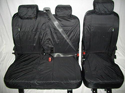 Factor First FF94975 2-1 Black Waterproof Van Seat Covers