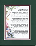 Gifts For Grandmothers, #38, Touching 8x10 Poem, Double-matted In Dark Green/Burgundy And Enhanced With Watercolor Graphics. Special Grandmother Poem.