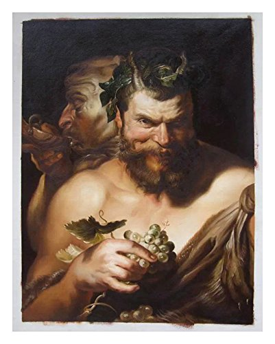 Various Artists Two Satyrs   Sir Peter Paul Rubens Hand Painted Oil Painting  Reproduction,