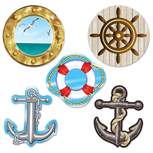 (Beistle 54710 Mini Nautical Cutouts, 4