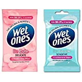 Wet Ones Antibacterial Be Cute + Gentle Travel Adults Kids Face Baby Wipes 40Pks